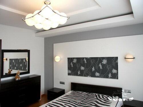 031. спальня, инсталляция изголовья кровати, интерьер