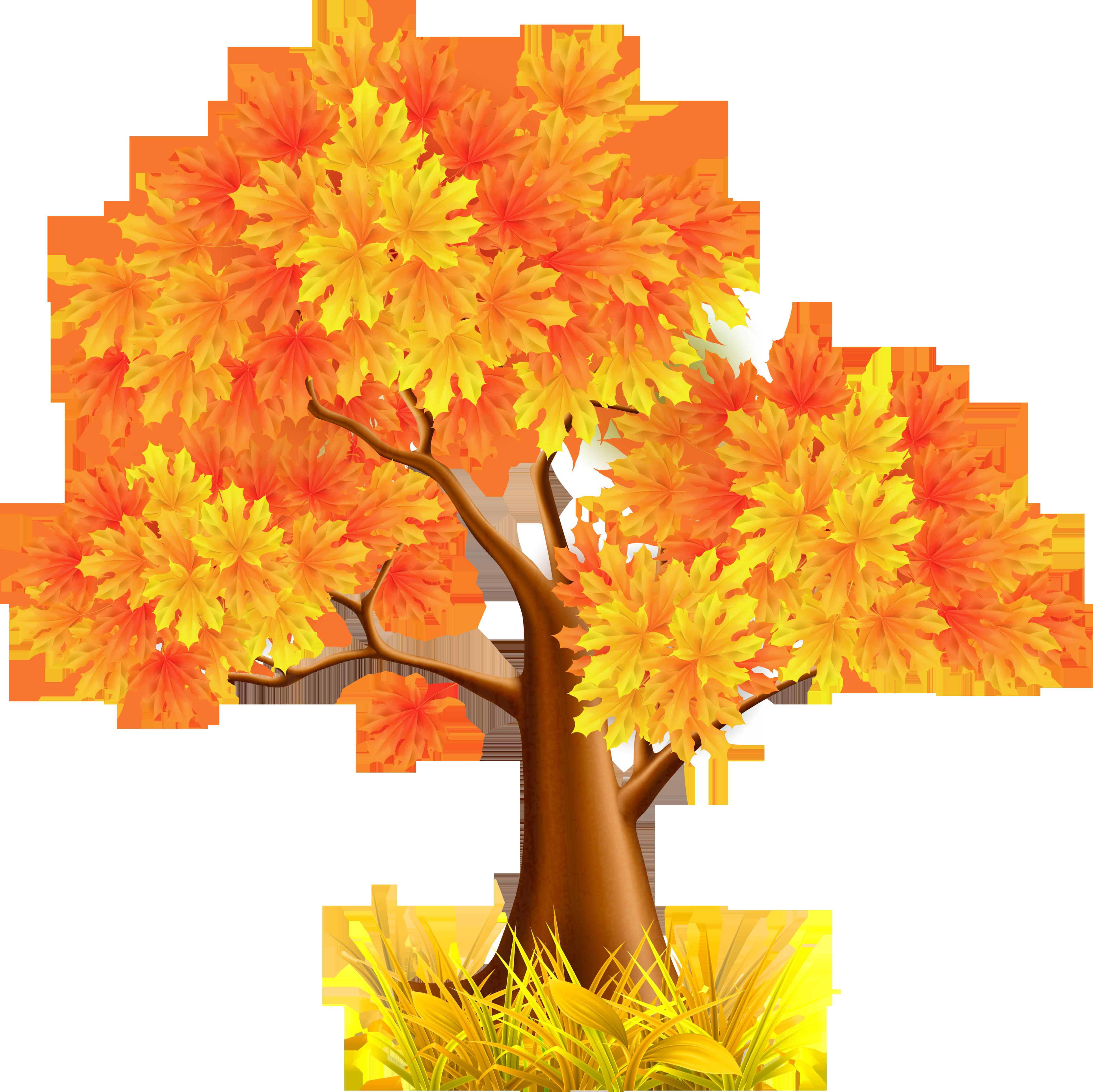 Дерево с осенними листьями картинка для детей