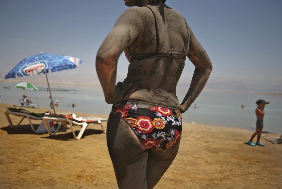 Соляные образования в Мёртвом море, 5 декабря 2011 года.