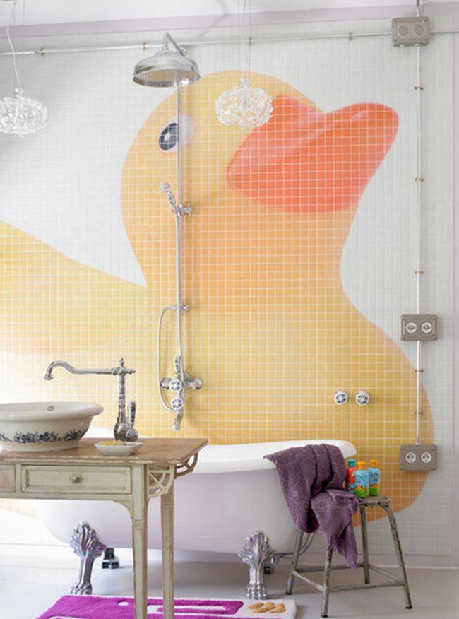 1. Утиные истории в отделке стен в ванной