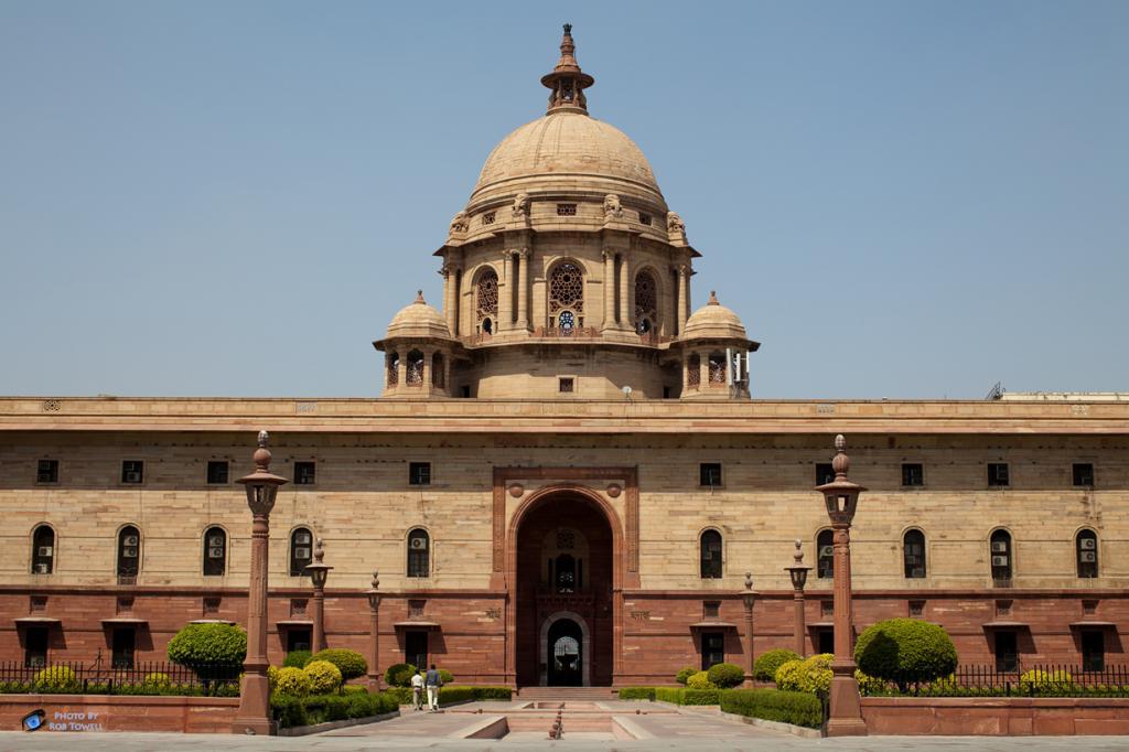 Индия. Нью-Дели. Раштрапати-Бхаван является официальной резиденцией Президента страны. (Rob Towe
