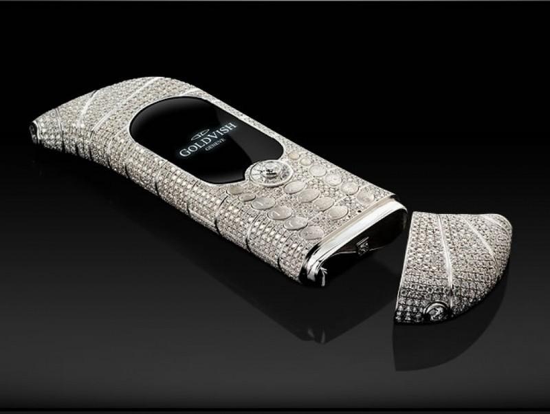 6. Драгоценный телефон – Goldvish Le Million Этот аппарат, стоимостью 1,2 миллиона долларов, разрабо