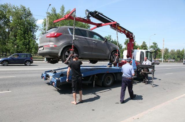ВТатарстане запревышение скорости оштрафовали автомобиль ехавший наэвакуаторе