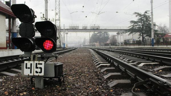 ВПриамурье сошли срельс железнодорожные платформы сконтейнерами