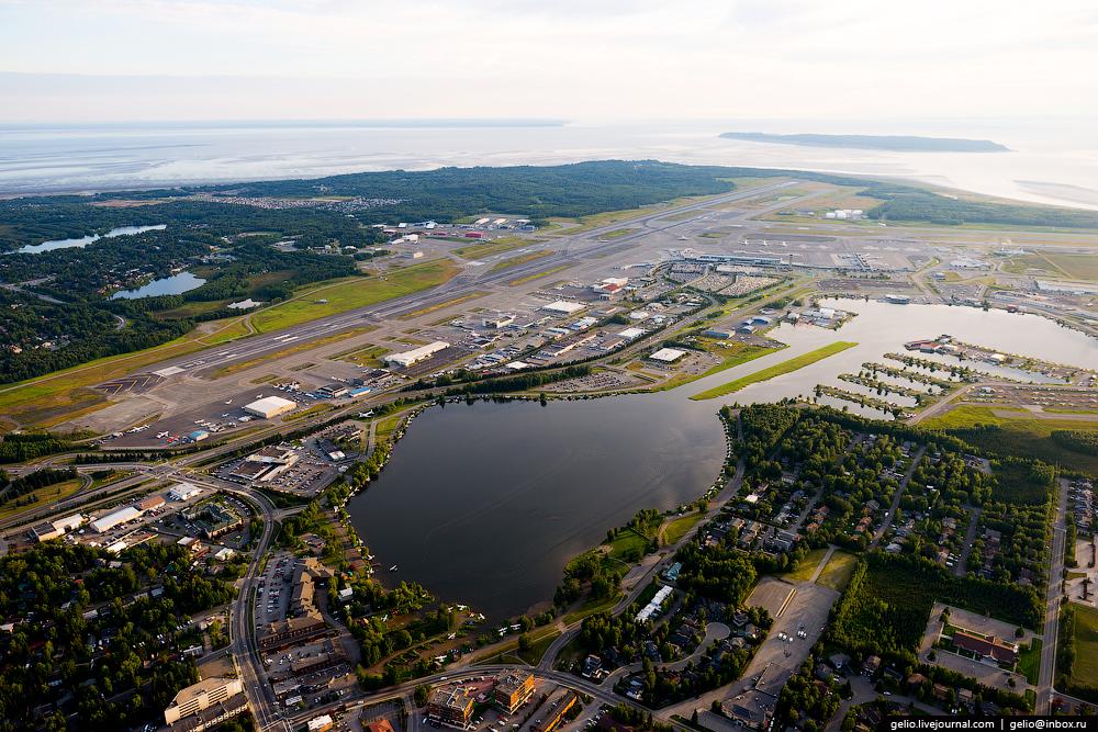 Аэрофотографии: самый большой город Аляски   Анкоридж с высоты