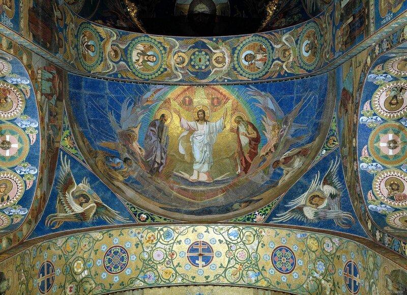 Мозаика по эскизу Преображение Господне, храм Спаса на Крови