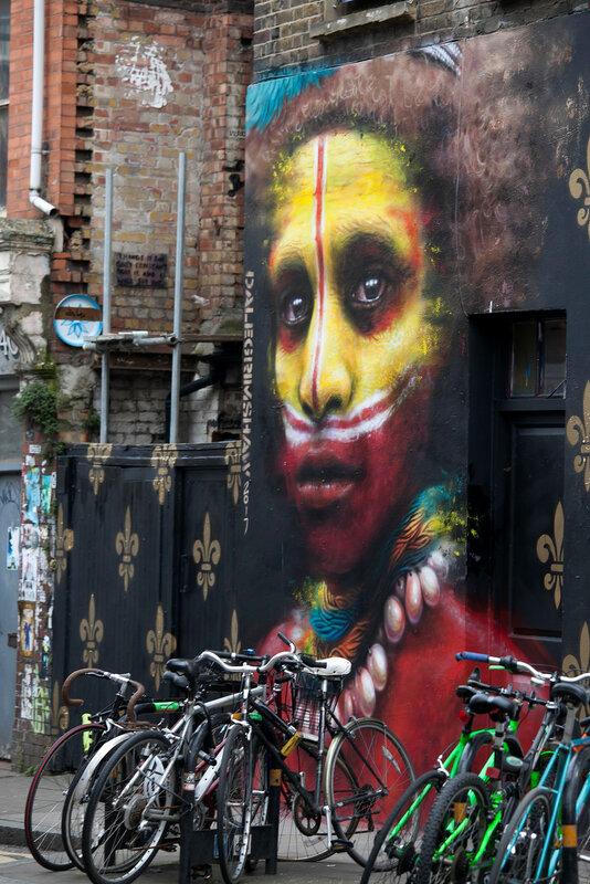 Graffiti near Brick Lane, London, UK