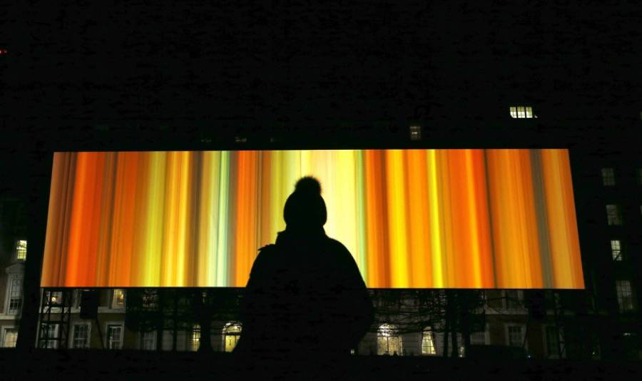 Digital Light Installations at the London Lumiere Festival