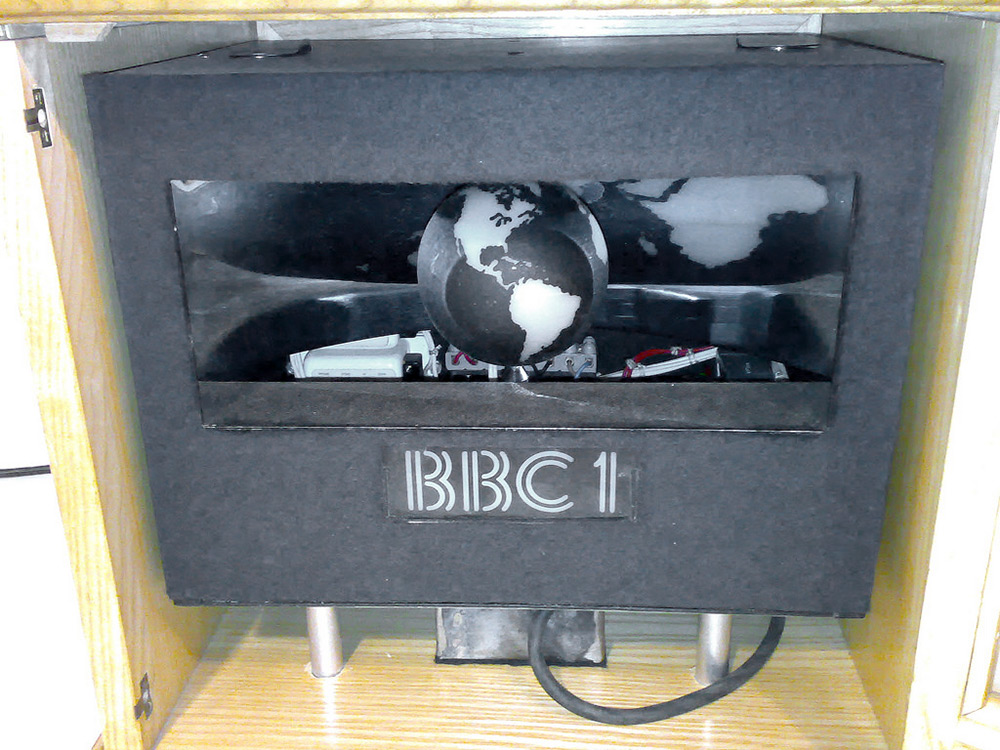 Another famous physical TV identity was the BBC's