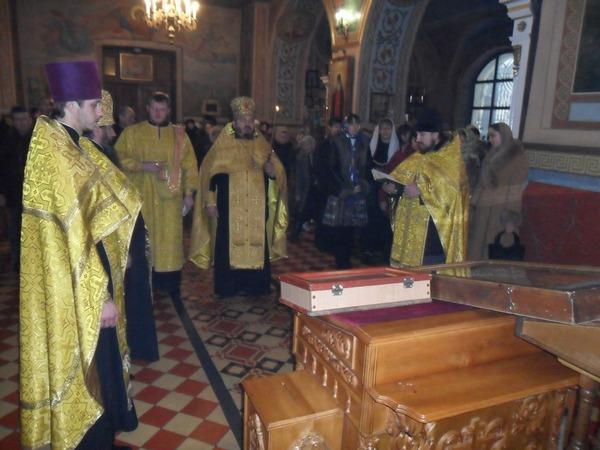 Благодарственный молебен в честь прибытия иконы апостола Андрея Первозванного с Акафистом
