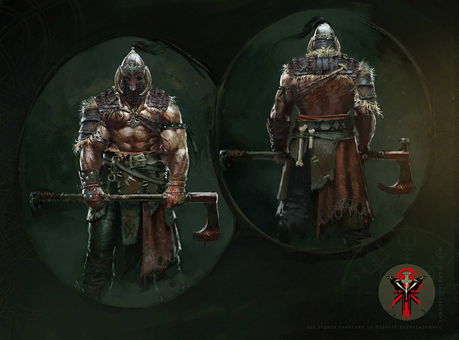 For Honor Concept Art by Remko Troost
