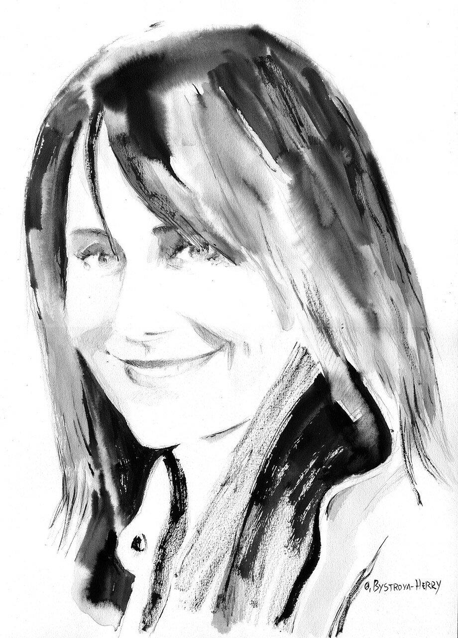 001. Françoise Petit. Encre. 42x21 cm