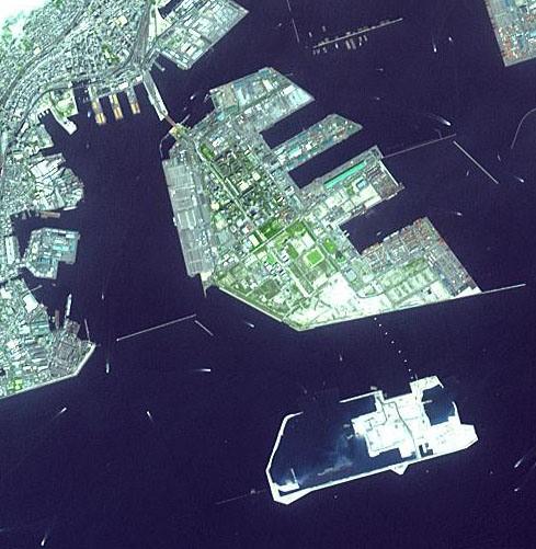 Искусственный остров города Кобе Япония