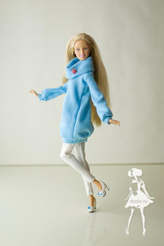 Сшить пальто для кукол 19
