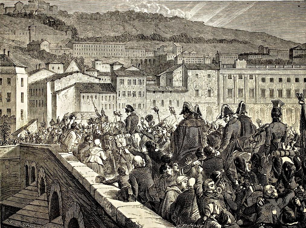 Триумфальный въезд Наполеона в Лион, 10 марта 1815 года.jpg