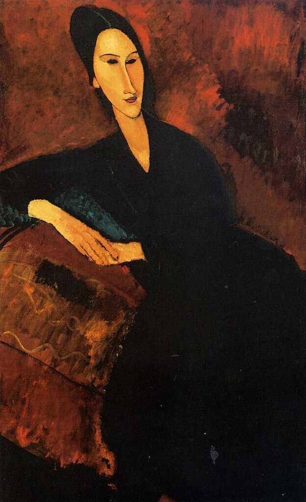 Portrait of Anna Zborowska - 1917 - Museum of Modern Art - New York - Painting - oil on canvas.jpeg