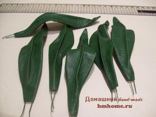 Лилии из искусственной кожи