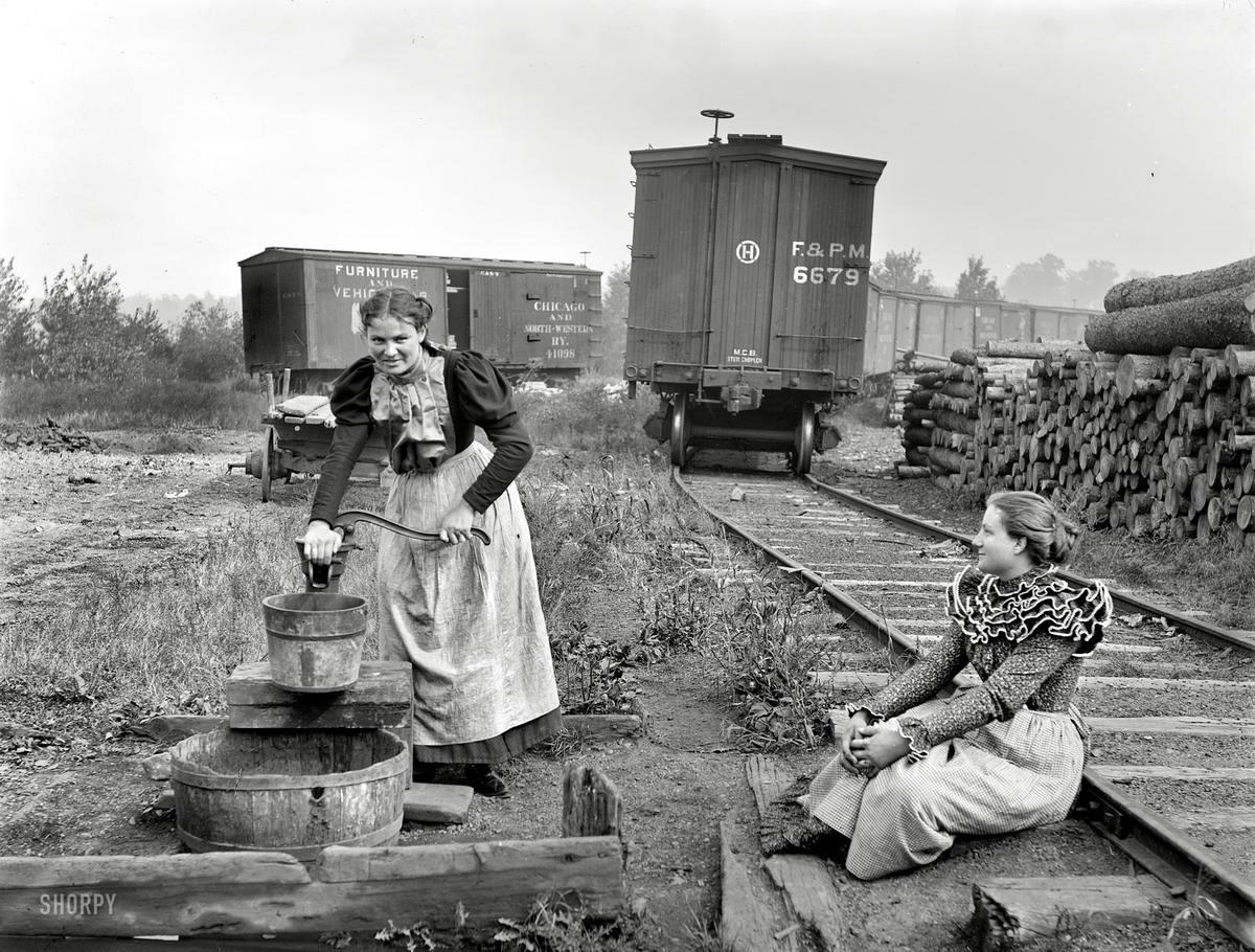 Железные дороги конца 19-го - начала 20-го века на снимках американских фотографов (13)
