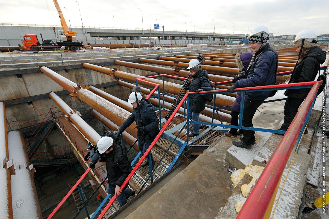 строительство метро котлован Рассказовка