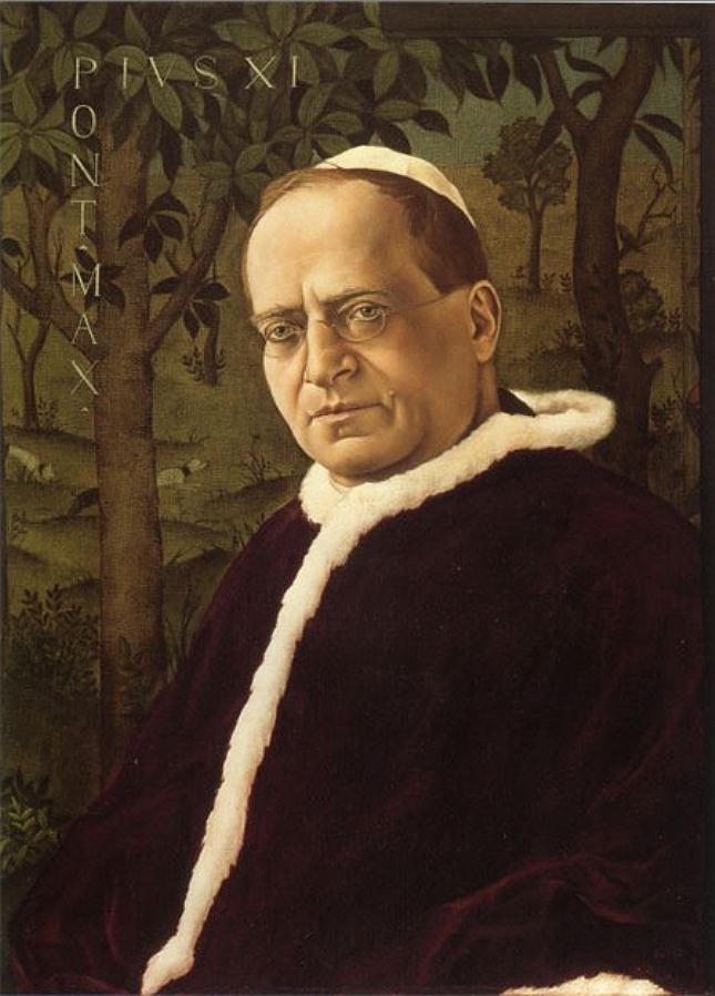 Christian Schad, Pope Pius XI, 1925