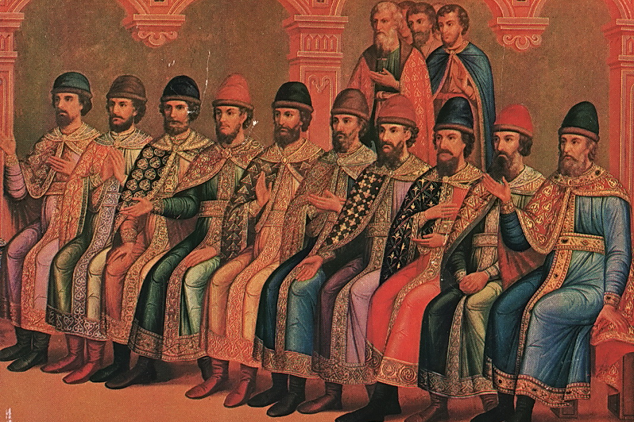 Князь Владимир с сыновьями, Грановитая палата.png