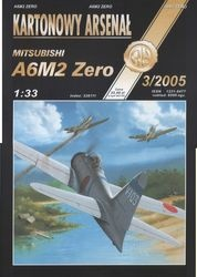 Журнал Журнал A6M2 Zero Tomcat-Halinski Kartonowy Arsenal (3`2005)