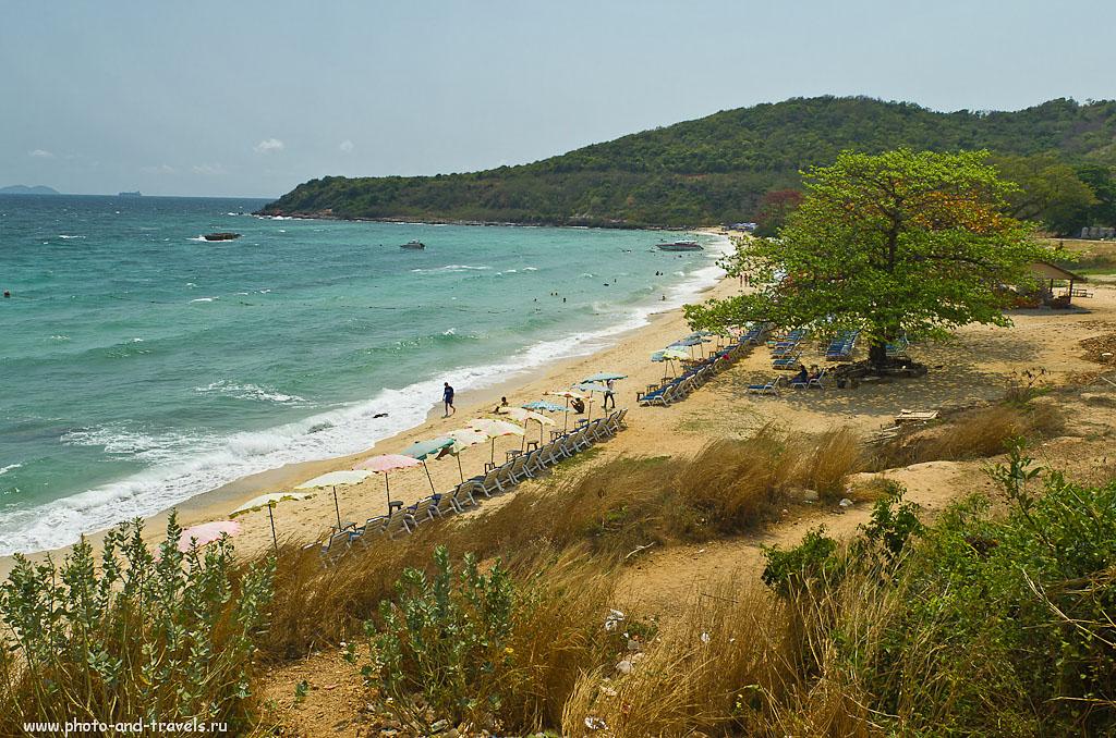 8. Пляж Nual Beach (Monkey Beach) на острове Ко Лан (Koh Larn) нам понравился больше, чем Tawaen. В октябре 2017 мы отдыхали в Паттайе в третий раз. С Таваена на Манки Бич за 10 минут довозит тук-тук. Стоимость - 40 бат.