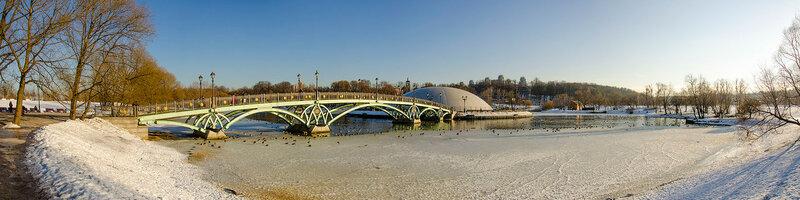 Панорама Нижнего Царицынского пруда.