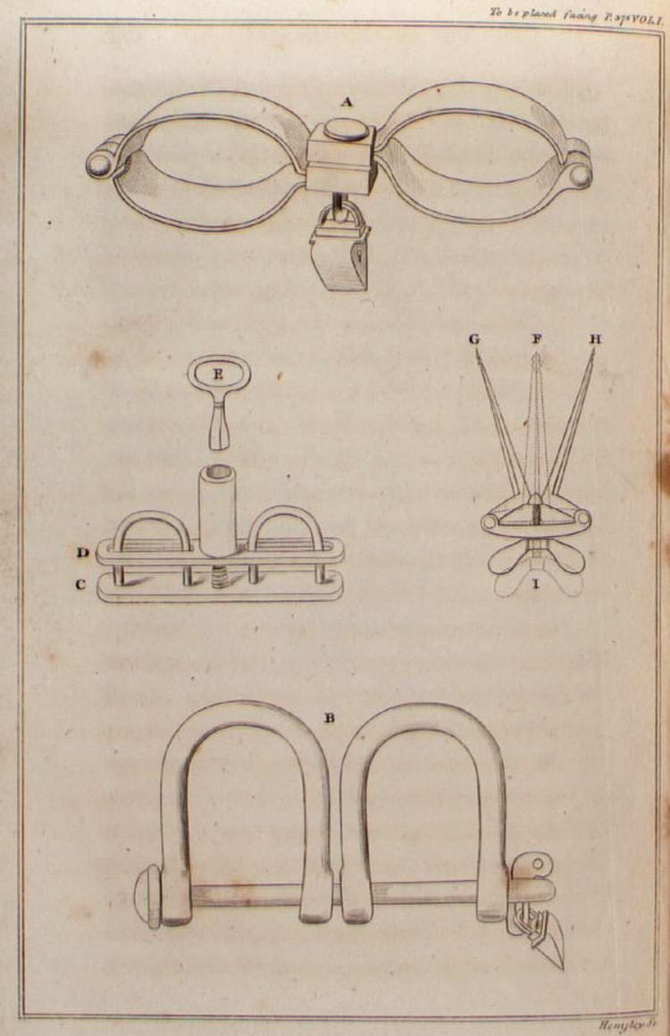 Кандалы и оковы, использовавшиеся в процессе контрабандных перевозок рабов через Атлантику в конце 19 века
