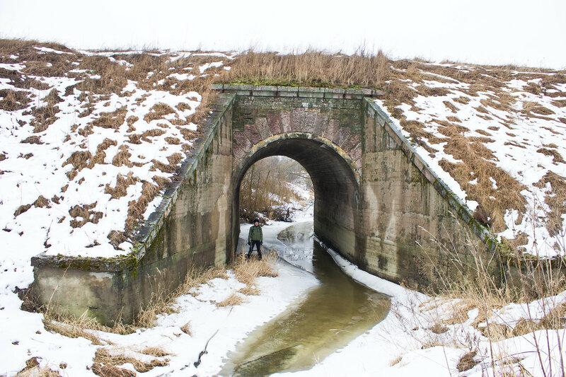 мост первого пути Императорской железной дороги через Кузьминку