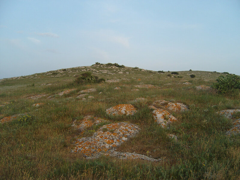 Казантип. Западная часть. Береговой каменистый склон с кустарниками