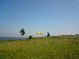 Полёт на параплане над озером Ильмень в Новгородской области