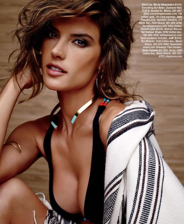 Алессандра Амбросио (Alessandra Ambrosio) в журнале Ocean Drive