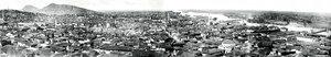 Панорамна фотография на град Пловдив и река Марица, вероятно малко след Освобождението