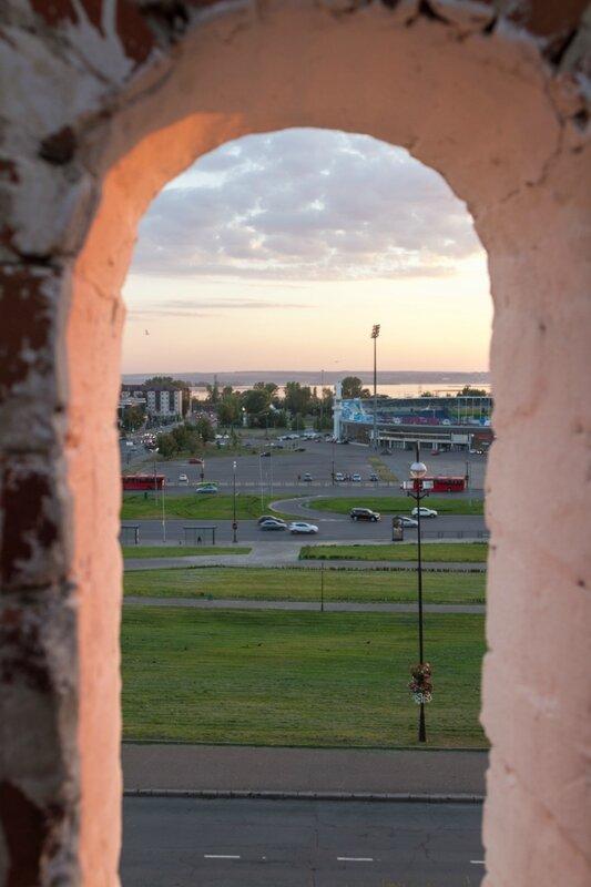 Вид в сторону Волги с кремлевской стены