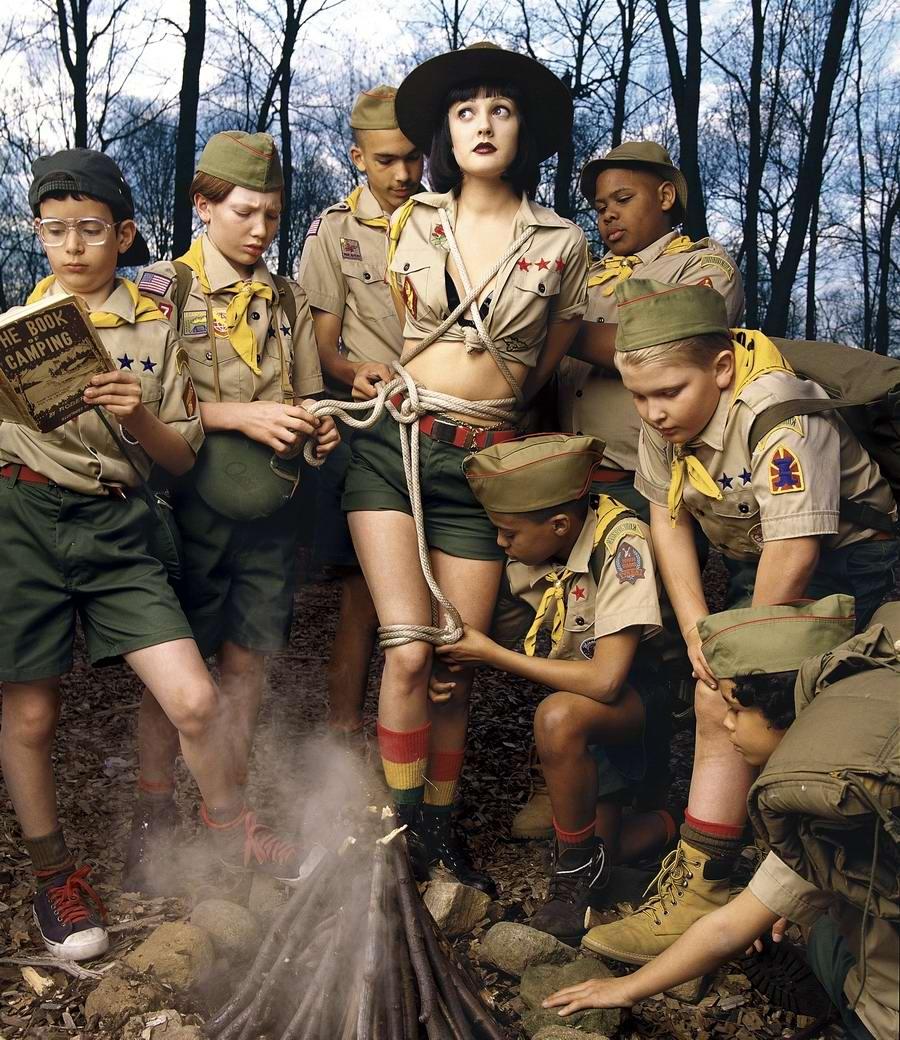 Юные бойскауты и их прелестная добыча