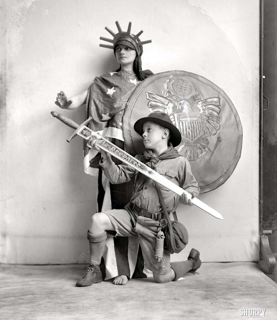 Американские бойскауты начала 20-го века на снимках фотографов (22)