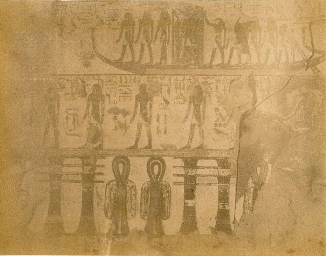 «Долина Царей». Рельеф, Гробница Сети I, 1880-е
