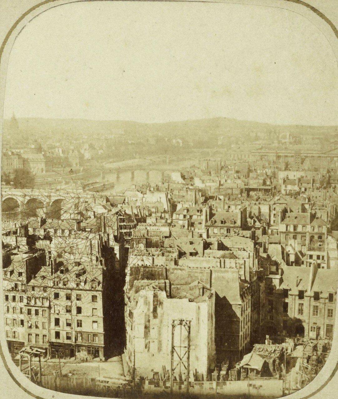1855. Общий вид Парижа