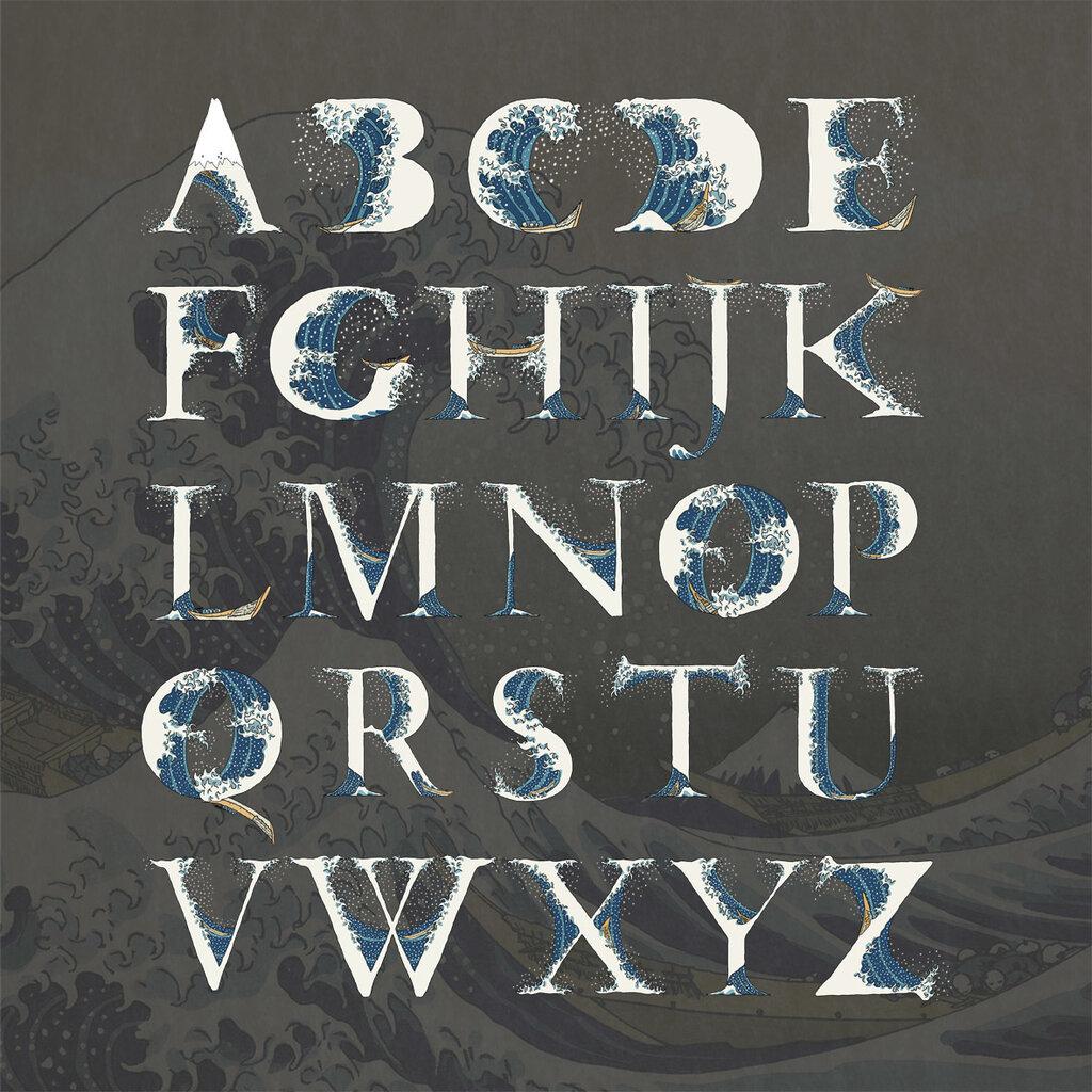 The Great Wave off Kanagawa Alphabet, Aditya Tri0.jpg