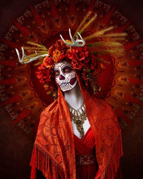 Яркие портреты ко дню мёртвых Лос Муэртос (9 фото)