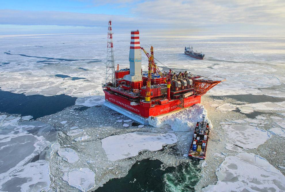 Как добывают нефть в Арктике: платформа