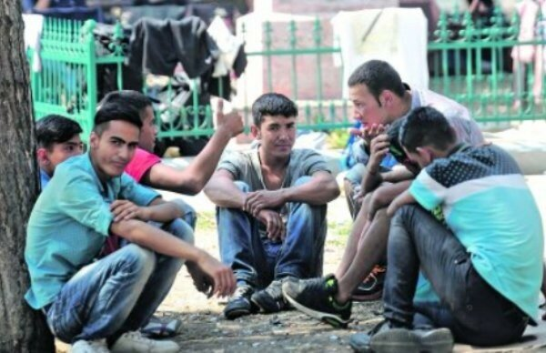 Сербия, Белград, мигранты