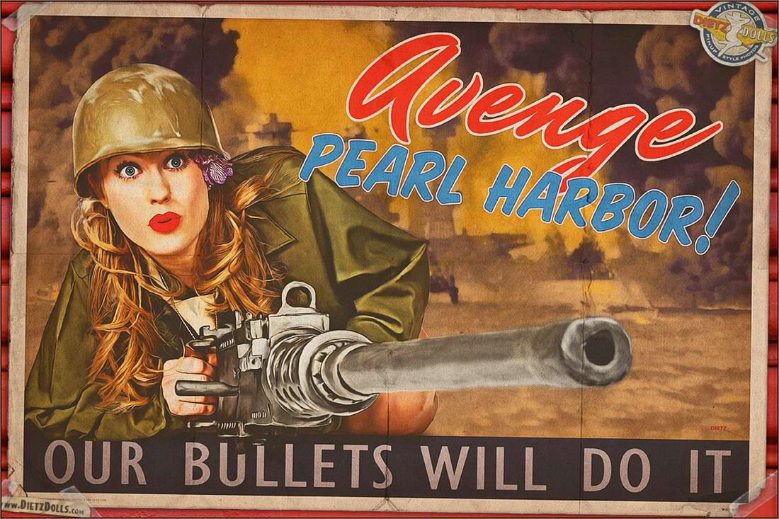 Армейский pin-up в стиле 1940-х годов от американского художника Britt Dietz (5)