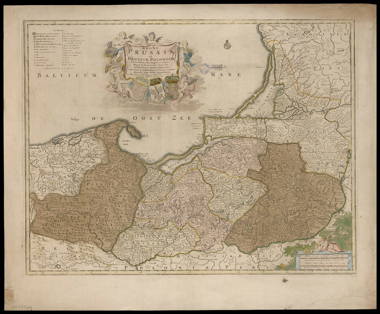 1700-е. Карта России, Пруссии и Польши