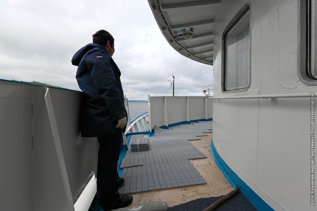 замена палубного покрытия в носовой части средней палубы теплохода Русь Великая