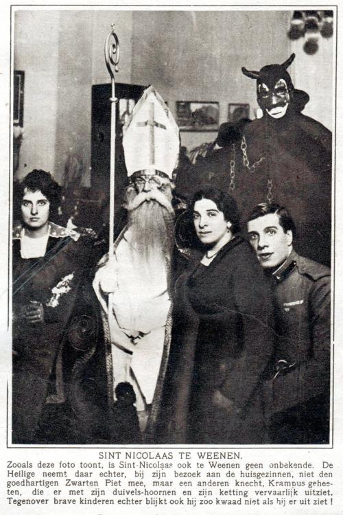 St Nicolaas en knecht Krampus in Wenen 1919.jpg