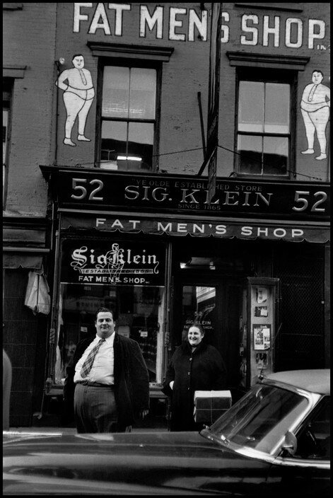 USA. New York City. 1955. Fat Men's shop.jpg