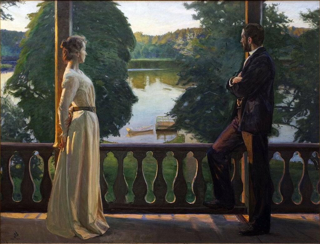 Nordic summer's evening 1899-1900,Richard Bergh(1858-1919);  Gothenburg Museum of Art