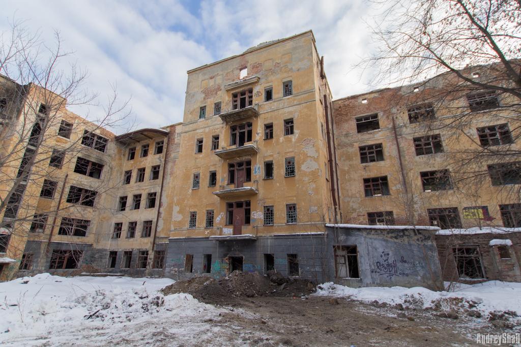 Заброшенная больница в Екатеринбурге